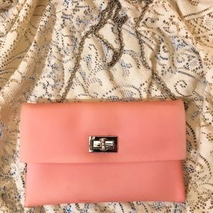 Handbags - 🍑Millennial pink plastic clutch/crossbody [used]